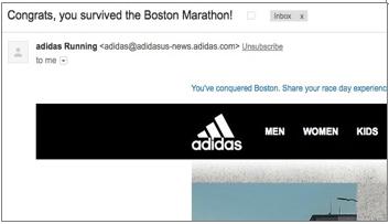 "Insensitive copy problem: ""You survived the Boston marathon"" email"
