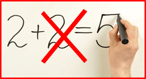2x2=5, as analogy to copy and content mistakes
