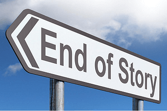 Street sign: End f story