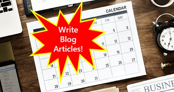 Get a blogging plan--Create a blog editorial calendar.