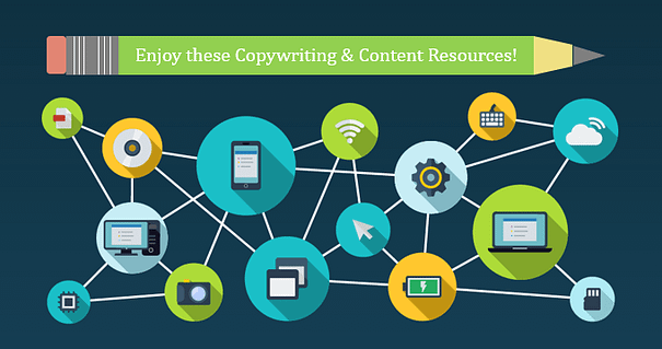 Image supporting text: Enjoy these Copywriting and Content Resources